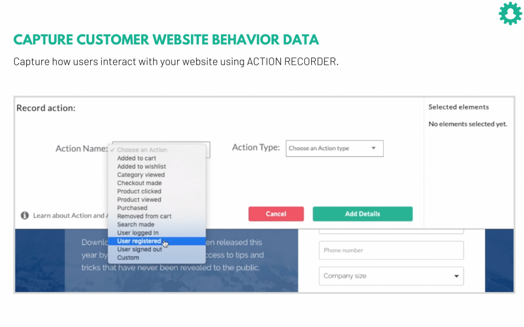 CustomerLabs CDP (Customer Data Platform) collect's the data from website and the user interactions.
