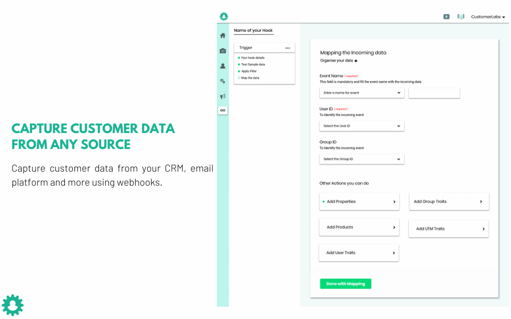 CustomerLabs CDP helps you bring the data from other sources