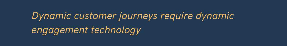 marketing for dynamic customer journeys